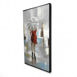 Framed 24 x 48 - 3D - Red dress woman