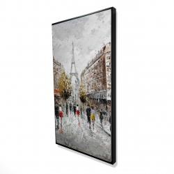 Framed 24 x 48 - 3D - Paris busy street