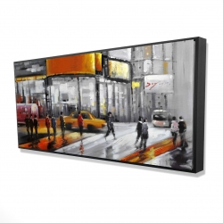 Framed 24 x 48 - 3D - Circulation in times square