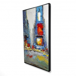 Framed 24 x 48 - 3D - Abstract and colorful buildings