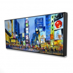 Framed 24 x 48 - 3D - Cityscape in times square