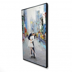 Framed 24 x 48 - 3D - Kiss of times square