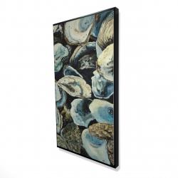 Framed 24 x 48 - 3D - Oyster shells