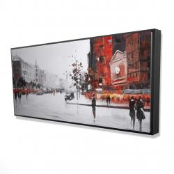 Framed 24 x 48 - 3D - Classic street scene