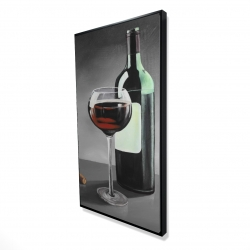 Framed 24 x 48 - 3D - Bottle of burgundy