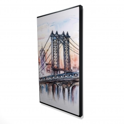 Framed 24 x 48 - 3D - Bridge sketch