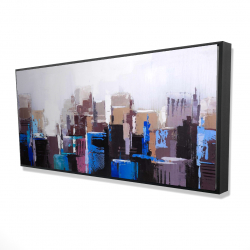 Framed 24 x 48 - 3D - Abstract skyscrapers