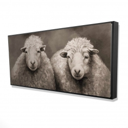 Framed 24 x 48 - 3D - Sheep sepia