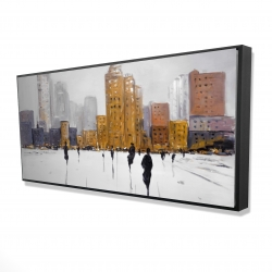 Framed 24 x 48 - 3D - City on the horizon