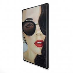 Framed 24 x 48 - 3D - Fashionable sunglasses