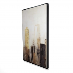 Framed 24 x 48 - 3D - Earthy tones city