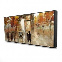 Framed 24 x 48 - 3D - Arc de triomphe in autumn