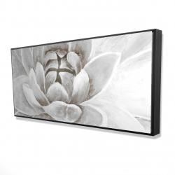 Framed 24 x 48 - 3D - Delicate white chrysanthemum