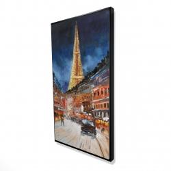 Framed 24 x 48 - 3D - Illuminated paris