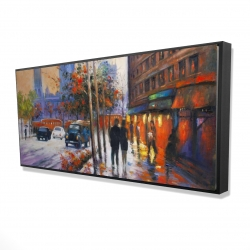 Framed 24 x 48 - 3D - City by fall