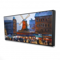 Framed 24 x 48 - 3D - Street scene to moulin rouge