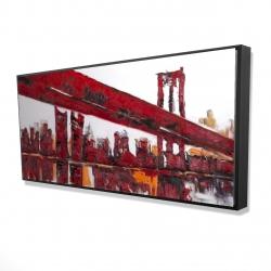 Framed 24 x 48 - 3D - Red bridge