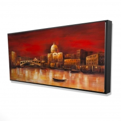 Framed 24 x 48 - 3D - Venise by red dawn
