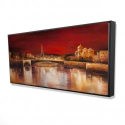 Framed 24 x 48 - 3D - Paris by red dawn