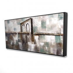 Framed 24 x 48 - 3D - Abstract paint spotted bridge