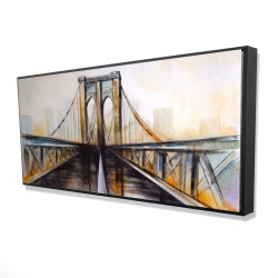 Framed 24 x 48 - 3D - Colorful brooklyn bridge