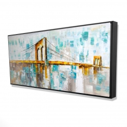 Framed 24 x 48 - 3D - Brooklyn bridge
