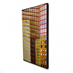 Framed 24 x 48 - 3D - Skyscrapers