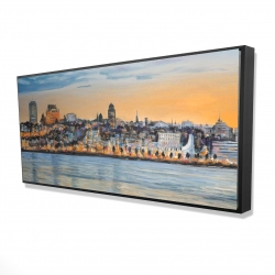 Framed 24 x 48 - 3D - Skyline of quebec city