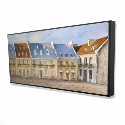 Framed 24 x 48 - 3D - Old quebec city