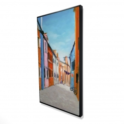 Framed 24 x 48 - 3D - Colorful houses in italy