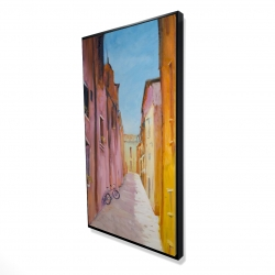 Framed 24 x 48 - 3D - Colorful houses in the streets of collioure
