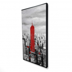 Framed 24 x 48 - 3D - Empire state building of new york