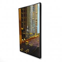 Framed 24 x 48 - 3D - New york city 9th street