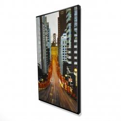Framed 24 x 48 - 3D - San francisco by night