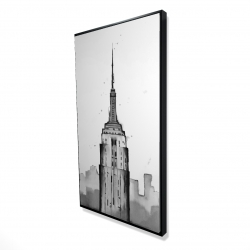 Framed 24 x 48 - 3D - Empire state building
