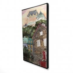 Framed 24 x 48 - 3D - Château frontenac in the petit champlain