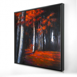 Framed 24 x 24 - 3D - Mysterious forest