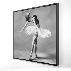 Framed 24 x 24 - 3D - Classic ballet dancer