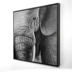 Encadré 24 x 24 - 3D - éléphant