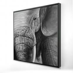 Framed 24 x 24 - 3D - Elephant