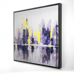 Framed 24 x 24 - 3D - Abstract and blurry cityscape