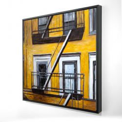 Framed 24 x 24 - 3D - Building old fire escape