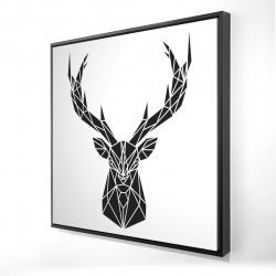 Framed 24 x 24 - 3D - Geometric deer head