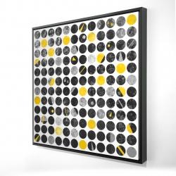 Framed 24 x 24 - 3D - Grunge circles