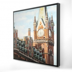 Framed 24 x 24 - 3D - St-pancras station in london