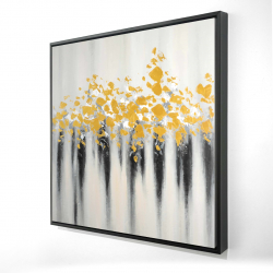 Framed 24 x 24 - 3D - Small golden spots