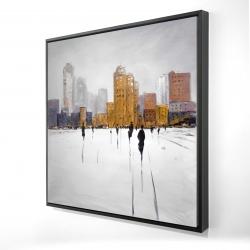 Framed 24 x 24 - 3D - City on the horizon
