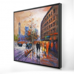 Framed 24 x 24 - 3D - City by fall