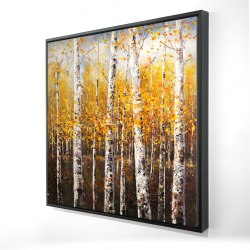 Framed 24 x 24 - 3D - Birches by sunny day