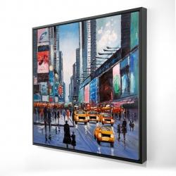 Framed 24 x 24 - 3D - Peak hour